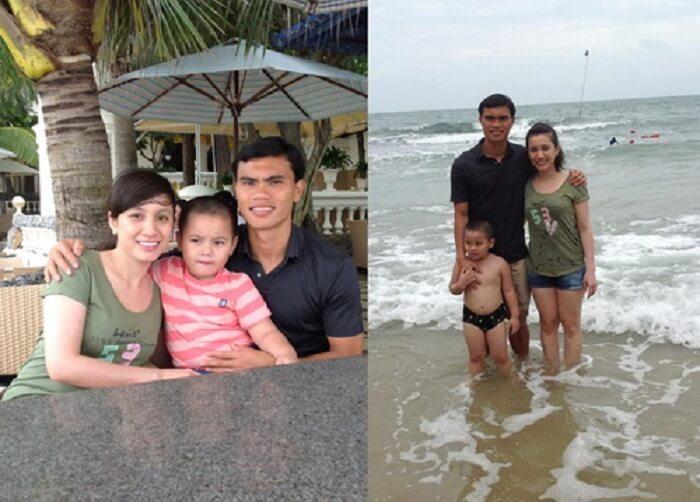 Phan Văn Tài Em hạnh phúc bên gia đình nhỏ